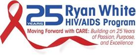 25 year Ryan White logo