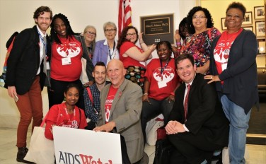 AIDS Watch delegation with Rep Adam's office